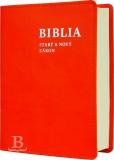 Biblia slovenská, rímskokatolícka, vrecková, oranžová farba
