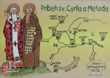 Príbeh sv. Cyrila a Metoda, omaľovanka