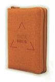 Biblia, Roháčkov preklad, 2020, vreckový formát, oranžová, so zipsom