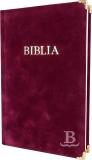 Biblia, evanjelický preklad, rodinný formát, 2015, pevná väzba, bordová, semiš