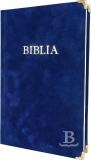 Biblia, evanjelický preklad, rodinný formát, 2015, pevná väzba, modrá, semiš