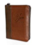 Biblia, ekumenický preklad, edícia SLOVO, 2020, vreckový formát, hnedá, dvojfarebná, so zipsom
